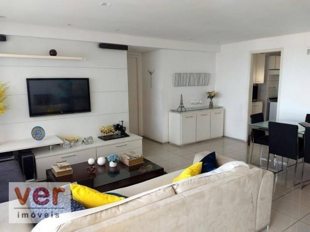 Apartamento com 3 dormitórios à venda, 137 m² por R$ 850.000,00 - Cocó - Fortaleza/CE - Foto 2