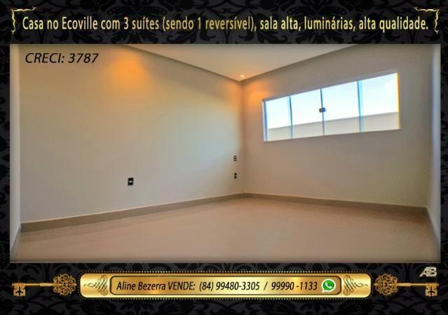 Financia, casa com 3 suítes no Ecoville, sombra, alta qualidade, venha conhecer - Foto 9