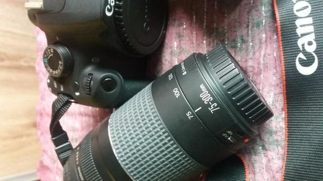 Câmera Fotográfica Cannon EOS Rebel T5 com 2 lentes e acessórios - Foto 5