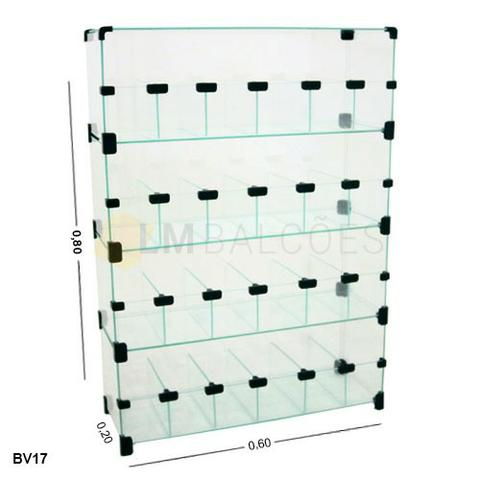 Baleiro de vidro 0,80 x 0,60 x 0,20 Frete e montagem gratis