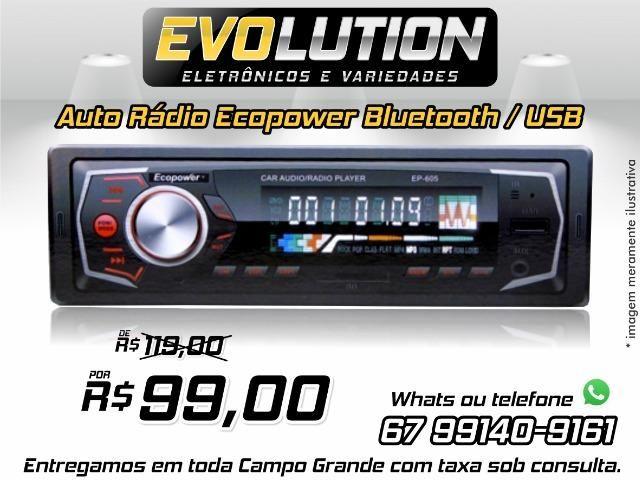 Toca Rádio Ecopower EP-605 - Bluetooth - Usb - Sd Promoção