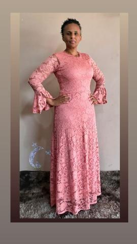 Vestido Renda Longo - Foto 4