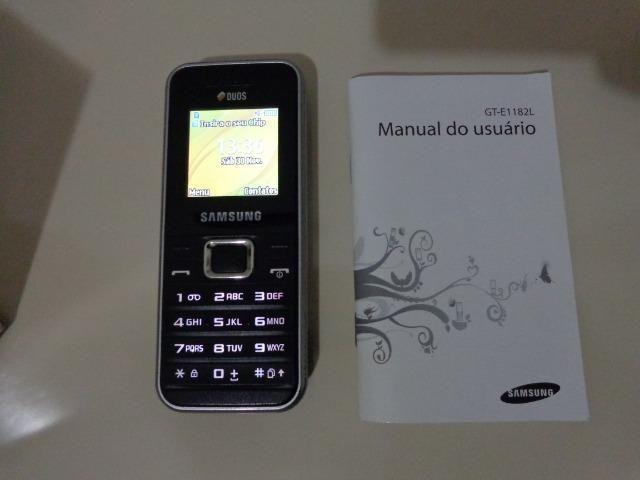 Celular Samsung E1182L - Seminovo - Baixo Guandu-ES