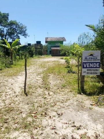 Ótimo Terreno com Casa de madeira, 409,6m², Baln Jdm Verdes Mares, Itapoá/SC