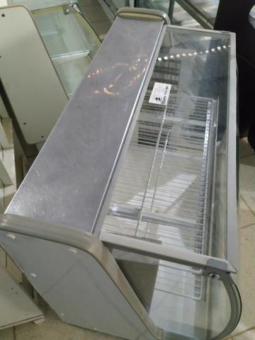 Balcão Polofrio para tortas, 1,20m, refrigerado 110v usado Frete Grátis - Foto 5