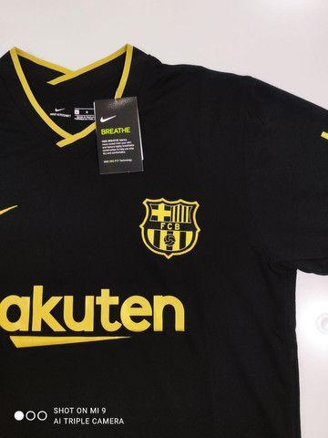 Camisa Barcelona Reserva Nike 20/21 - Tamanhos: P, M, G - Foto 3