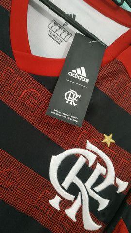 Camisa do Flamengo Rubro Negra Masculina 2019/20 - Foto 2