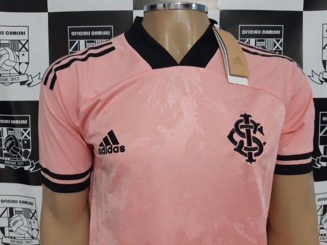 R$160,00 Camisa Inter Rosa Tam M e GG - Foto 2