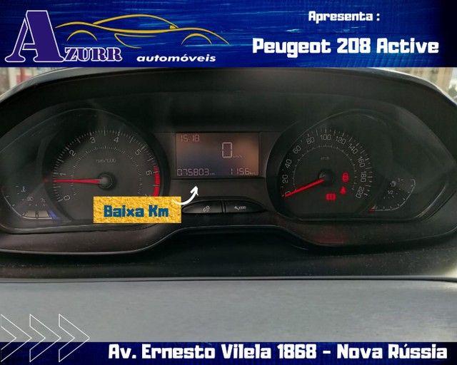 PEUGEOT 208 ACTIV COMPLETO 1.5 FLEX REVISADO GARANTIA BAIXA KM IMPECÁVEL   - Foto 9