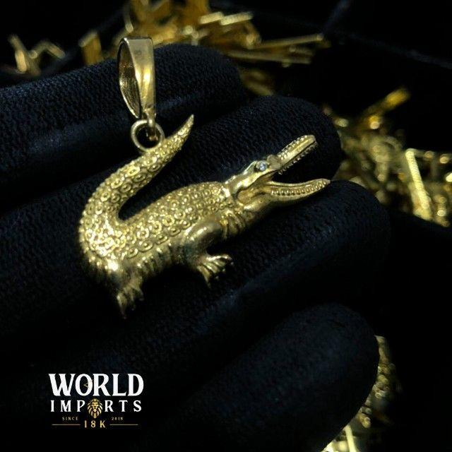joias de moeda antiga,cor identica ao ouro 18k - Foto 5
