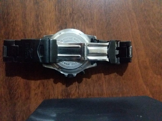 Relógio masculino com mostrador preto Signature II Chronograph 7351 - Foto 4