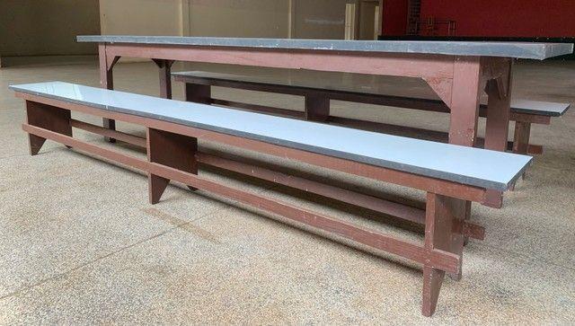 Conjunto mesa e 2 bancos  - Foto 5
