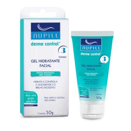 Gel Hidratante Facial Nupill Derme Control Não Oleoso 50g