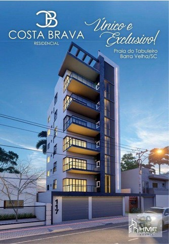 Apartamento com 3 dormitórios à venda, 105 m² por R$ 610.000 - Tabuleiro - Barra Velha/SC
