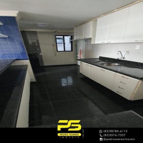 (ALUGO) Apartamento com 2 dormitórios para alugar, 67 m² por R$ 2.100/mês - Cabo Branco -  - Foto 4