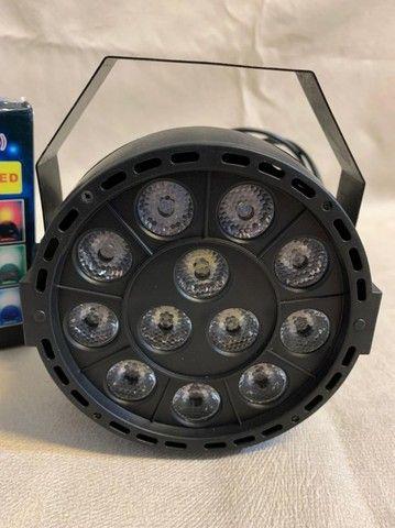 Led mini par light 12 leds ? Entrega grátis - Foto 2