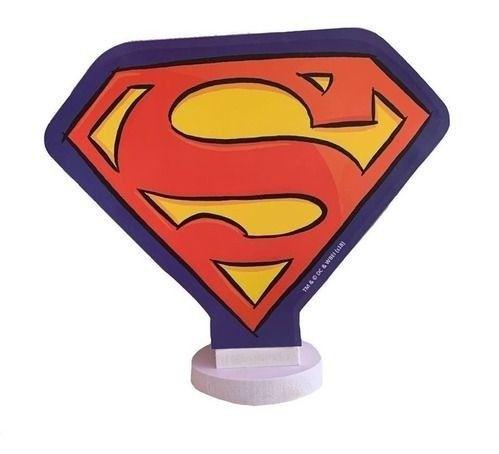 Luminária abajur superman super herói dc.