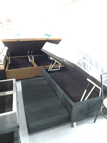 Cama baú, box baú  ,base baú   Cama box baú novos reforçado  - Foto 4