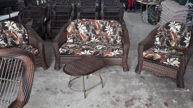 Conjunto de sofá Emília em fibra sintética - Foto 2