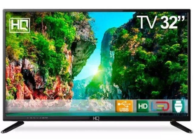 """TV LED 32"""" HQ HQTV32 Resolução HD com Conversor Digital 3 HDMI 2 USB Recepção Digital<br><br>"""
