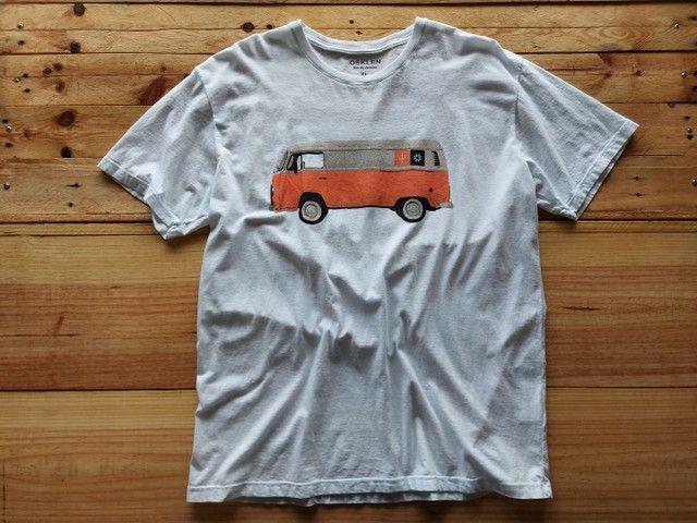 Combo Bermuda Jeans mais Camiseta Osklen - Foto 2