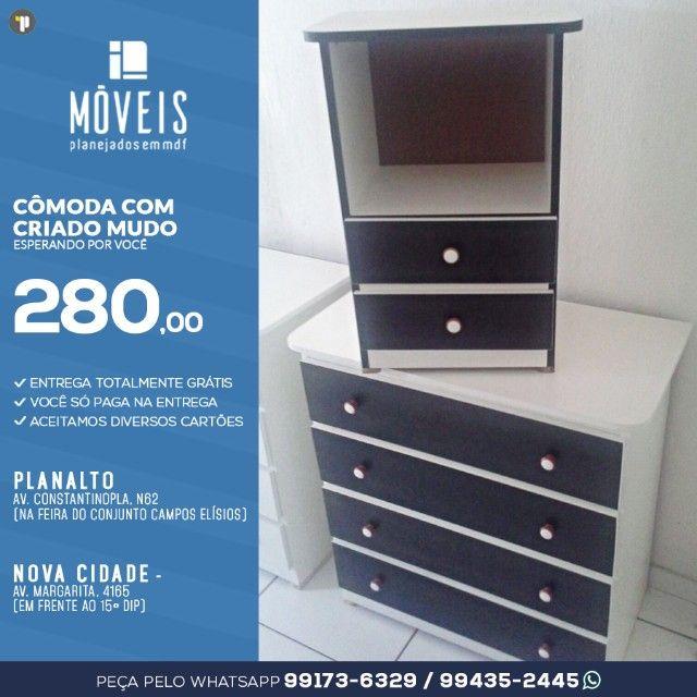 Oferta! Conjunto de cômoda + mesa de cabeceira / A partir de R$ 285,00 - Foto 2