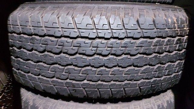 Jg Roda Hilux Aro 16 6x139 + Pneu 265/70 R16 Bridgestone,  semi novo - Foto 3