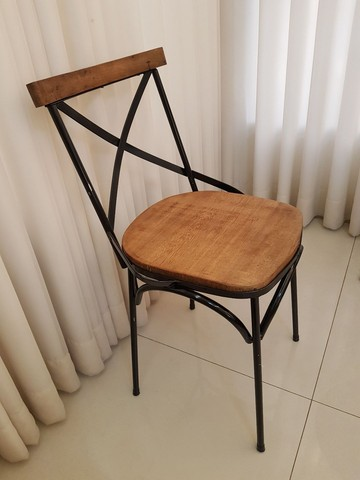 Cadeira Vintage X Rústica  - Foto 2