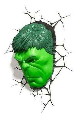 Marvel - Luminária Rosto Do hulk - Foto 2