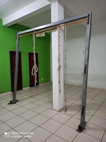 Rack suporte aparelhos aéreos de pilates