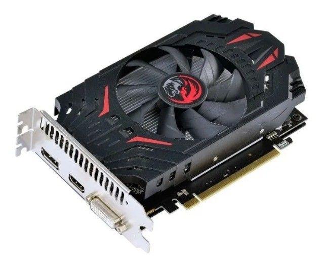 Placa de Vídeo Pcyes AMD Radeon RX 550, 4GB Gddr5 128 Bits - Loja Natan Abreu  - Foto 3