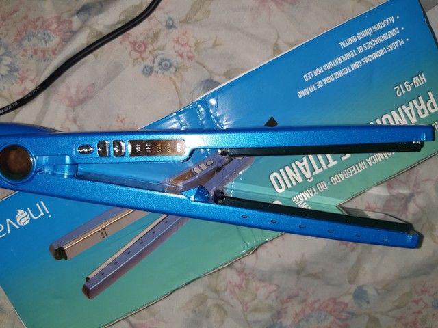 Prancha De Cabelo Inova Hw-912 Azul 110v/220v Alisa Bem<br> - Foto 4