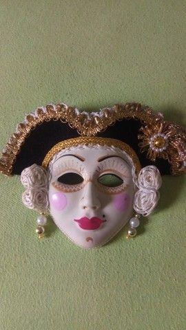 Coleção de mascaras Italianas em porcelana; - Foto 2