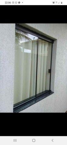 Janela de Blindex fumê 100x120 + kit para instalação  - Foto 5