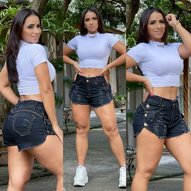 Short Black Jeans - Veste super bem Tam.38/40