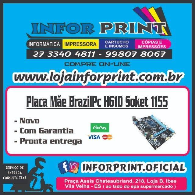 Placa Mãe BrazilPc H61 Soket 1155