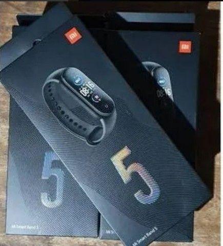 """Xiaomi Mi Smart Band 5 1.1"""" caixa de plástico pc pulseira black<br><br> - Foto 4"""