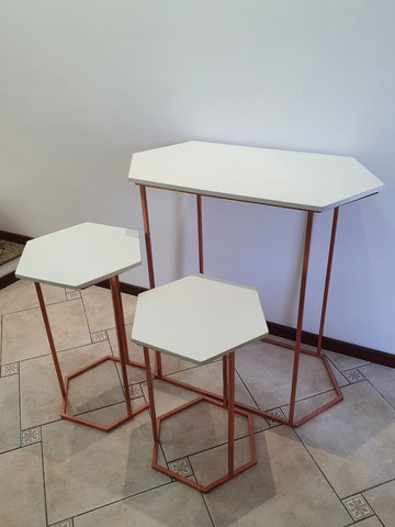 Trio mesa sextavada - Foto 2