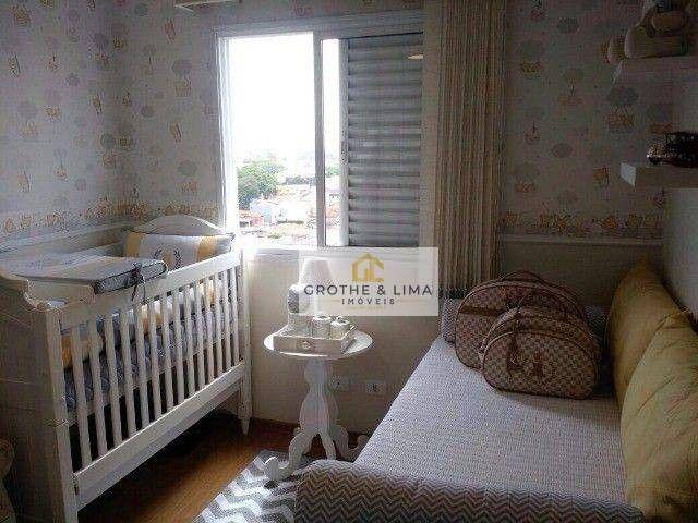 Apartamento com 2 dormitórios à venda, 72 m² por R$ 562.000 - Vila Ema - São José dos Camp