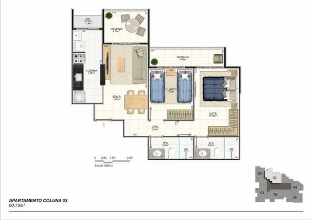 Apartamento 02 Quartos, Bairro Riviera, Lançamento na Planta - Foto 4