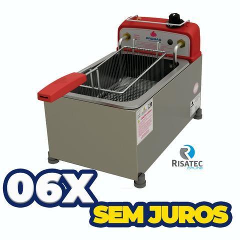 Fritadeira Tacho Salgados 4lts Inox Elétrica Pr10e Progas - 6x sem juros - Foto 2