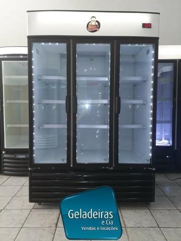 Metalfrio 3 Portas - Cervejeira Seminova Com Led
