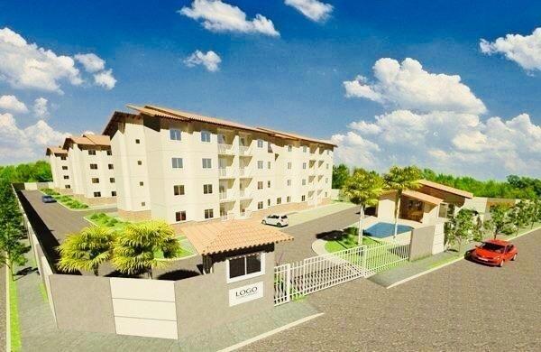 Apartamento com doc. gratis: 2 quartos, 2 banheiros , piscina, salao de festas