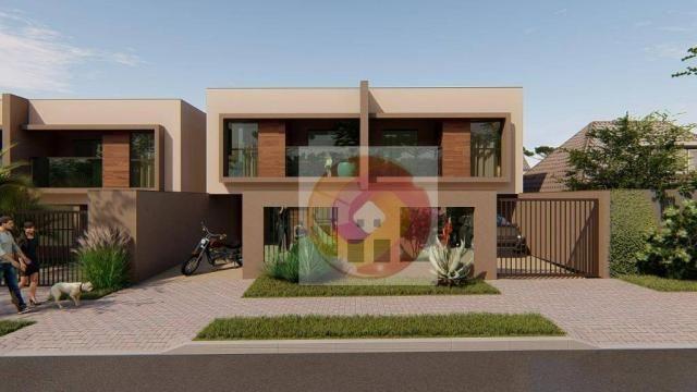 Sobrado com 3 dormitórios à venda, 124 m² por R$ 402.800,00 - Iguaçu - Araucária/PR