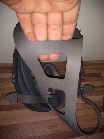 Máscara Facial Inteira 3M 6897 + Respirador 3M 6006 - Foto 4
