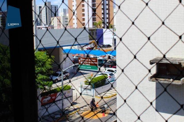 Apartamento com 3 dormitórios para alugar, 100 m² por R$ 1.600/mês - Papicu - Fortaleza/CE - Foto 16