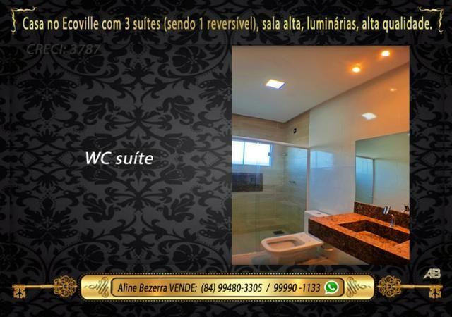 Financia, casa com 3 suítes no Ecoville, sombra, alta qualidade, venha conhecer - Foto 11