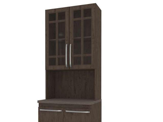Paneleiro Torre com Tampo e 4 Portas Mery - Indekes (Em Até 12 X Sem Juros) - Foto 5