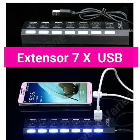 USB 1 Entrada e 7 Saídas