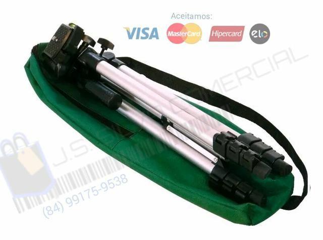 Celular e câmera kit( Tripé 1m30cm + Suporte p/cell + controle Bluetooth + Bolsa ) - Foto 2